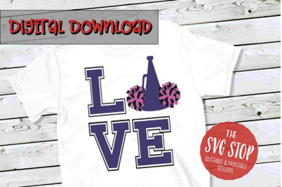 Love Cheer 3  -SVG, PNG, DXF