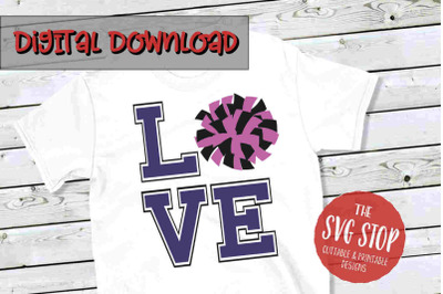 Love Cheer 4 -SVG, PNG, DXF