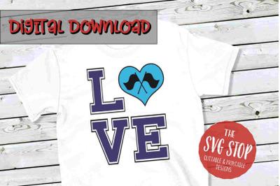 Love Color Guard  -SVG, PNG, DXF