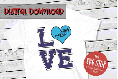 Love Cross Country -SVG, PNG, DXF