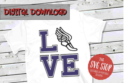 Love Cross Country 2 -SVG, PNG, DXF