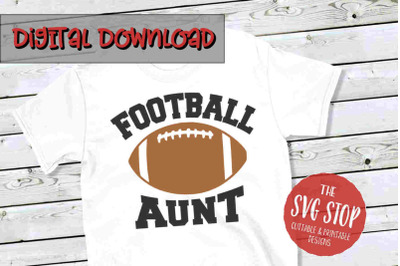 Football Aunt -SVG, PNG, DXF