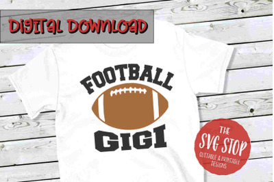 Football Gigi -SVG, PNG, DXF