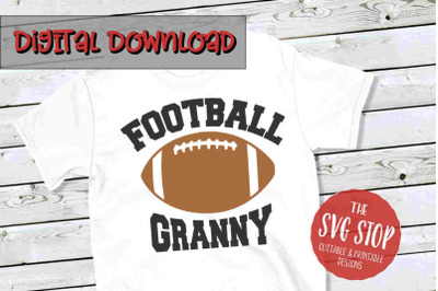 Football Granny-SVG, PNG, DXF