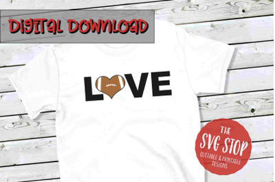 Love Football 2-SVG, PNG, DXF