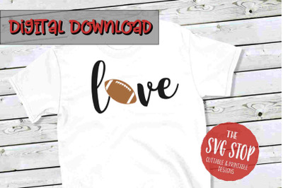 Love Football 3-SVG, PNG, DXF