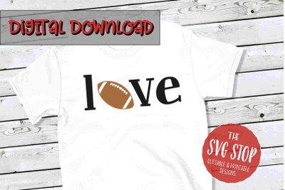 Love Football 4-SVG, PNG, DXF