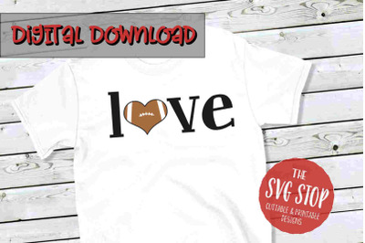 Love Football 5-SVG, PNG, DXF