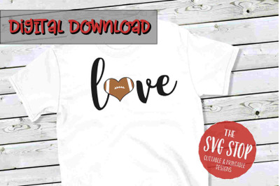 Love Football 6-SVG, PNG, DXF