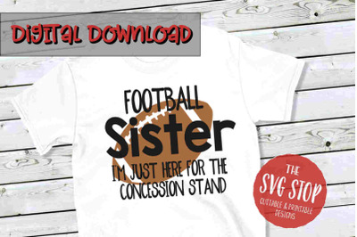 Football Sis -SVG, PNG, DXF