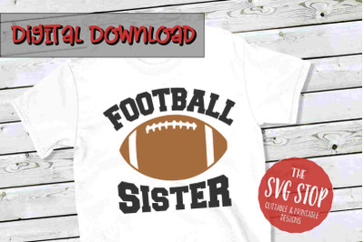 Football Sister -SVG, PNG, DXF