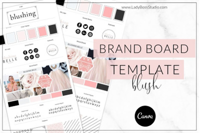 Canva Blush Brand Board