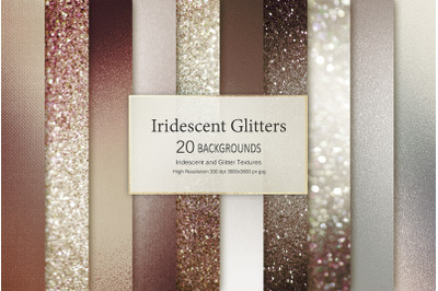 Brown Iridescent and Glitter Textures