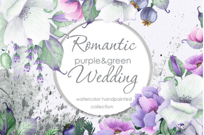 Romantic floral wedding collection