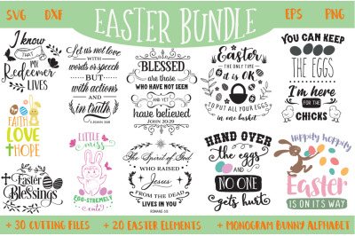 The Easter SVG Bundle - 30 Cut Files and Extras!