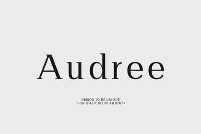 Audree Serif Font