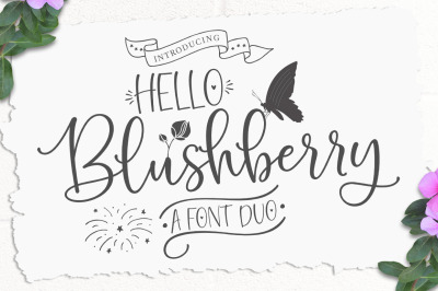 Hello Blushberry - Font Duo