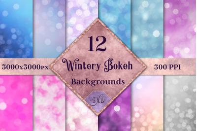 Wintery Bokeh Backgrounds - 12 Image Set