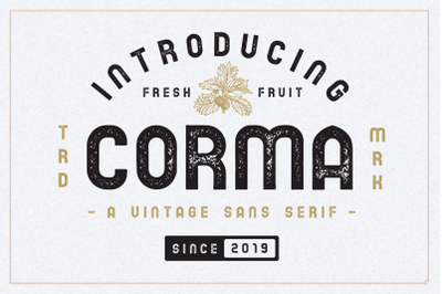 The Corma - 4 Font Files