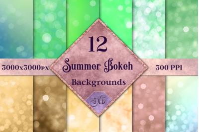 Summer Bokeh Backgrounds - 12 Image Set