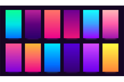 Gradient background. Colorful gradients&2C; blurred colors and vivid smar