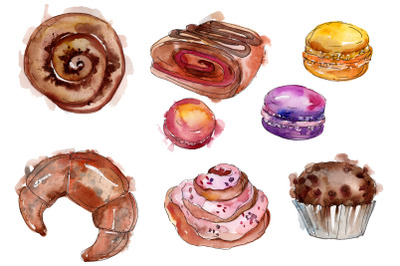 Dessert Provence Watercolor png