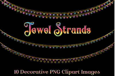 Jewel Strands Crystal Strings - 10 Image Clipart Set