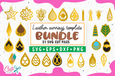 Bundle Earrings templante svg para artesanos