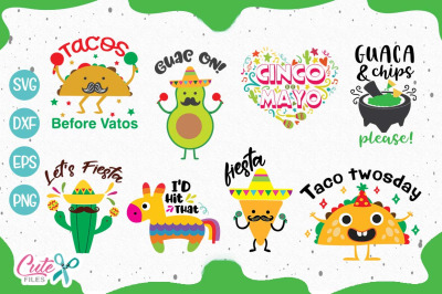 Cinco de mayo saying bundle svg Cut Files