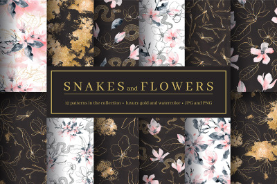 Snakes and Flowers. Pattern collection.