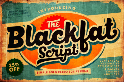 Blackfat Script - Retro Font