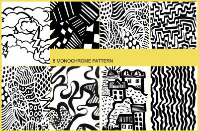 8 MONOCHROME PATTERNS