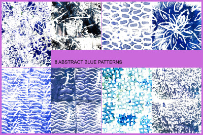 8 ABSTRACT BLUE PATTERNS