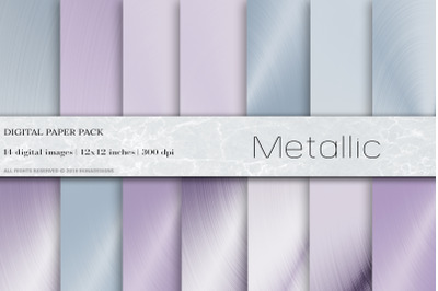Metallic Digital Papers, Ultraviolet  background
