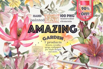Amazing garden 100 PNG