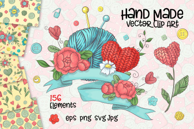 Hand Made  vector clip art