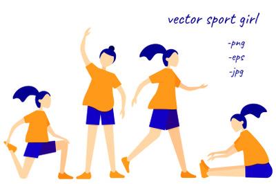 Vector sport girl
