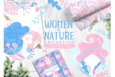 Women in Nature.