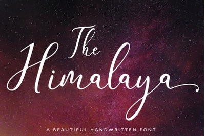 The Himalaya | beautiful handwriten