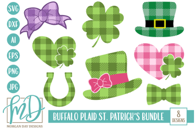 Buffalo Plaid St Patrick's SVG Bundle