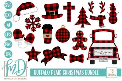 Buffalo Plaid Christmas SVG Bundle
