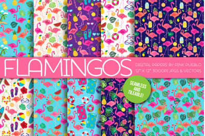 Flamingo Patterns and Backgrounds