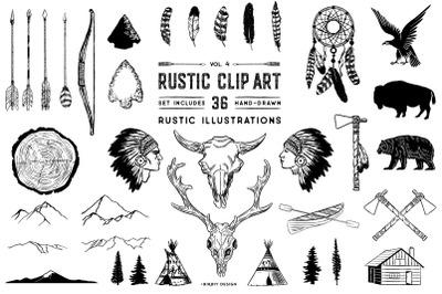 Rustic Clip Art Volume 4
