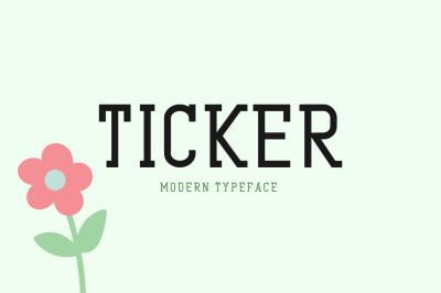Ticker Typeface