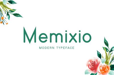 Memixio Typeface