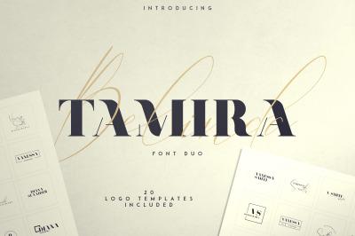 Belinda Tamira - Font duo + 20 Logos
