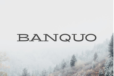 Banquo Serif Font Family