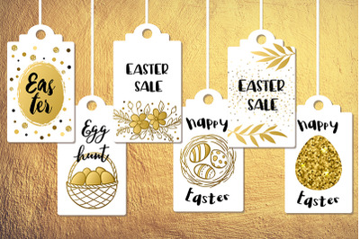 Golden Easter Sale Tags