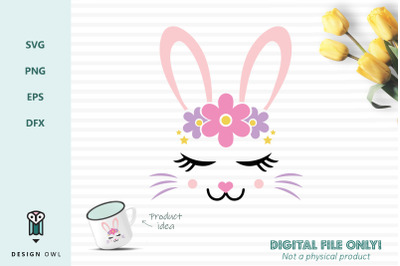Bunny face - SVG file
