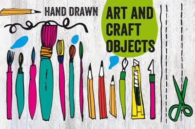 Hand-Drawn Art & Craft Tools